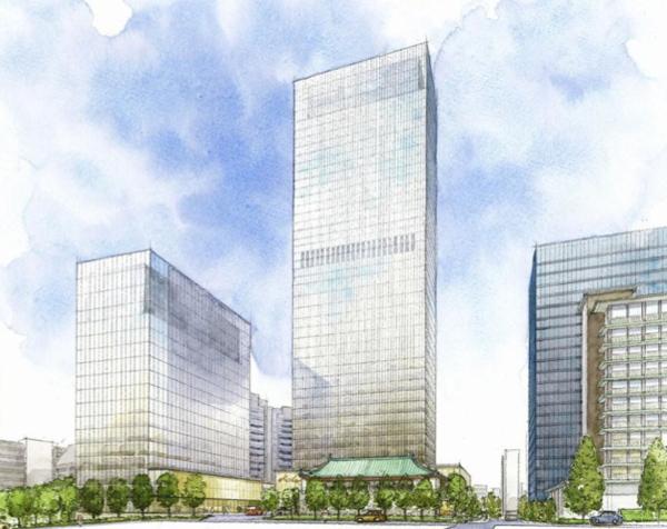 Rendering of the Hotel Okura Tokyo Reconstruction Project