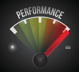Graphic - a meter with the word performance