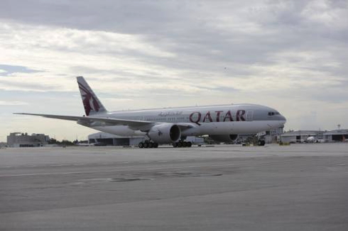 Qatar Airways Airplane on tarmac