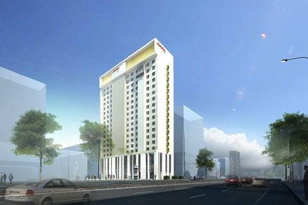 Rendering of the Hampton by Hilton Warsaw City Centre