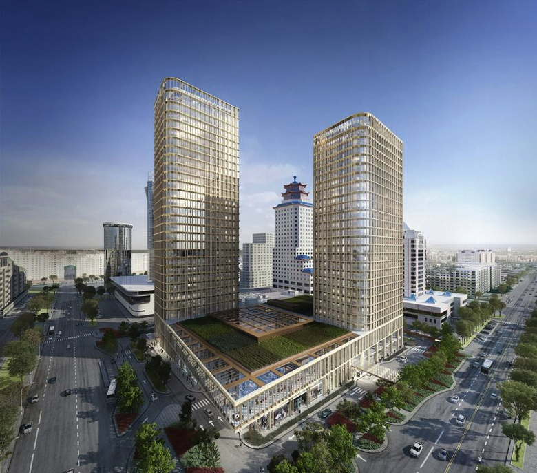 Rendering of the Ritz-Carlton Astana