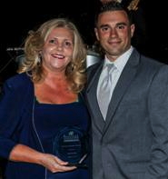Holly Breuche, General Manager of the Year with Lou Zameryka, Immediate Past President of the HSMAI Greater New York Chapter