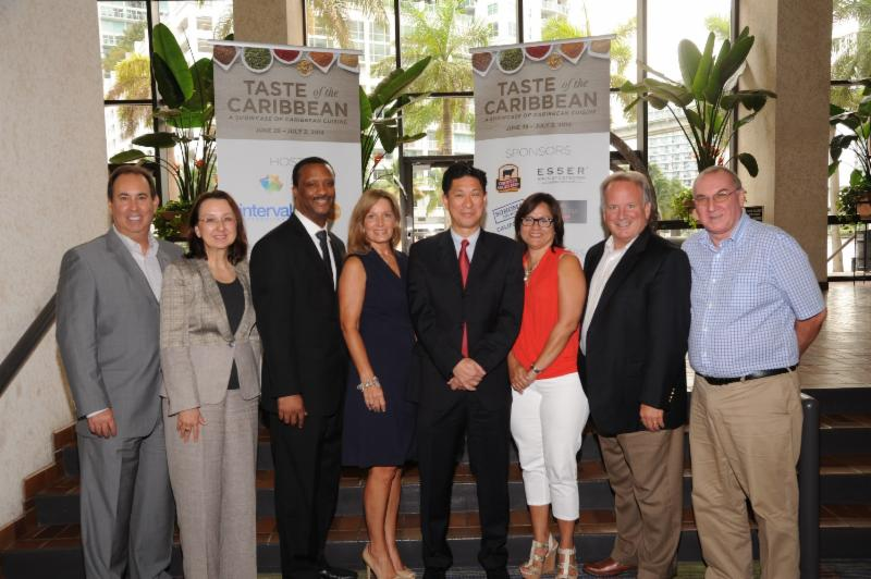 "The newly elected president and officers of the Caribbean Hotel and Tourism Association (CHTA). Pictured (l-r) Jeffrey S. Vasser, CHA, director general and CEO of CHTA; Karolin Troubetzkoy, first vice president of CHTA, president, St. Lucia Hotel and Tourism Association and owner and executive director of Anse Chastanet and Jade Mountain Resort, St. Lucia; Stuart Bowe, second vice president of CHTA, president, Bahamas Hotel and Tourism Association and senior vice president and general manager of Coral Towers at Atlantis, Paradise Island, Bahamas; Karen Whitt, third vice president of CHTA, director, Turks & Caicos Hotel and Tourism Association and general manager, Regent Palms Turks & Caicos; Emil Lee, president of CHTA and general manager of Princess Heights Hotel, St. Maarten; Patricia Affonso Dass, fourth vice president of CHTA, immediate past president, Barbados Hotel & Tourism Association and general manager of Ocean Two Resort & Residences, Barbados; William ""Bill"" Clegg, fifth vice president of CHTA, regional vice president, Franchise Service and Programs for Choice Hotels International; and James Hepple, treasurer of CHTA and president and CEO, Aruba Hotel and Tourism Association."