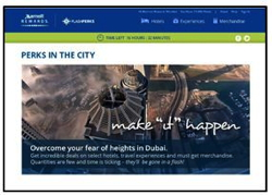Screenshot from Marriott's Perks in the City