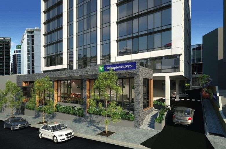 Rendering of the Holiday Inn Express Hotel in Brisbane's Spring Hill