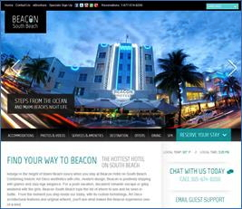 Screenshot - The Beacon South Beach Hotel web site
