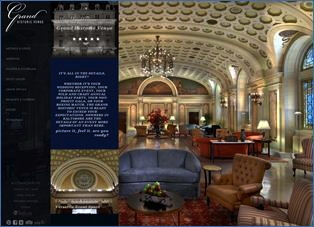 Screenshot - Grand Historic Venue web site