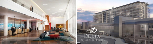Rendering of the Delta Calgary International Airport Hotel