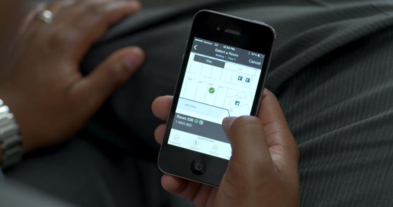 Screenshot of Hilton Mobile app