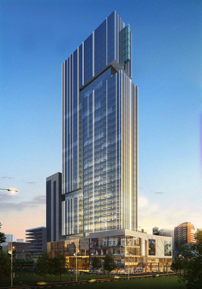 Rendering of the Crowne Plaza Taj Expressway Noida to Open 2018 in India