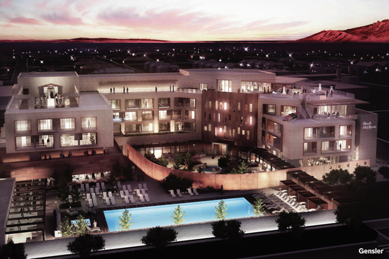 Rendering of New Heritage Hotel Announced for Albuquerque New Mexico for spring 2016