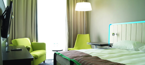 Guest room at the Park Inn by Radisson at Pulkovo Airport in St. Petersburg