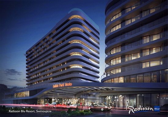 Rendering of the Radisson Blu Resort, Świnoujscie