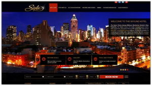 Screenshot from Interactive Media Awards winning web site