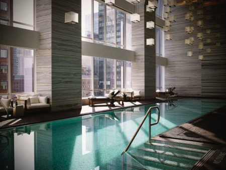 Park Hyatt New York's indoor swimming pool