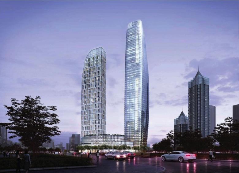 Rendering of the Fairmont Suzhou
