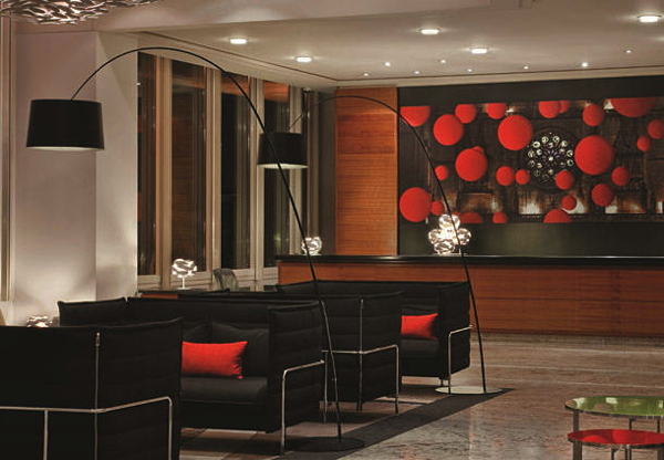 Lobby at Lyon Marriott Hotel Cité Internationale