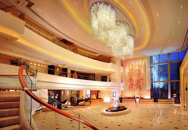 Lobby at JW Marriott Hotel Shanghai Changfeng Park