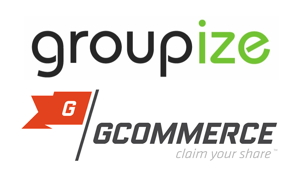 Groupize Solutions and GCommerce Logos