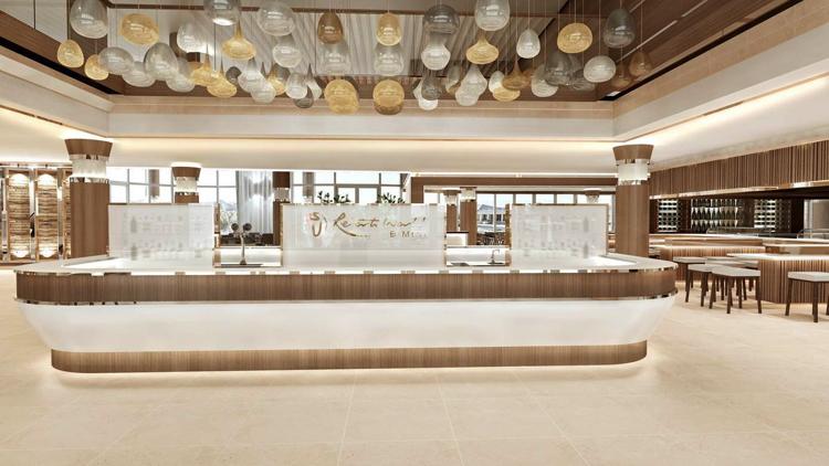 Lobby at the Hilton at Resorts World Bimini