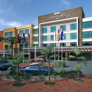 Rendering of the Courtyard by Marriott Curaçao