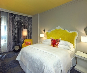 Guest room at the Grand Bohemian Hotel Charleston