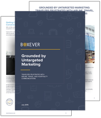 Cover from 'Grounded by Untargeted Marketing: Travelers Frustrated with Airline, Travel and Hospitality Communications' Report