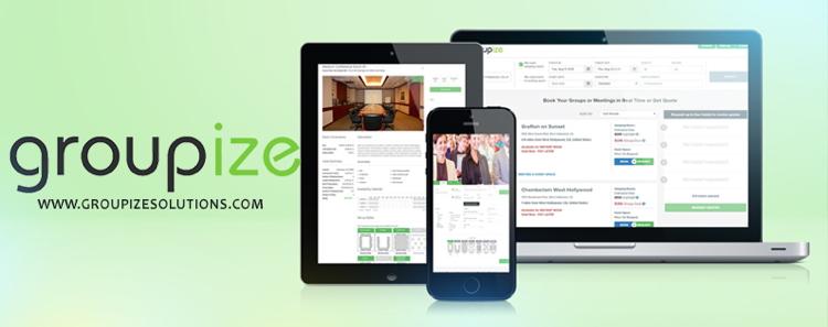 Screenshot of Groupize applications