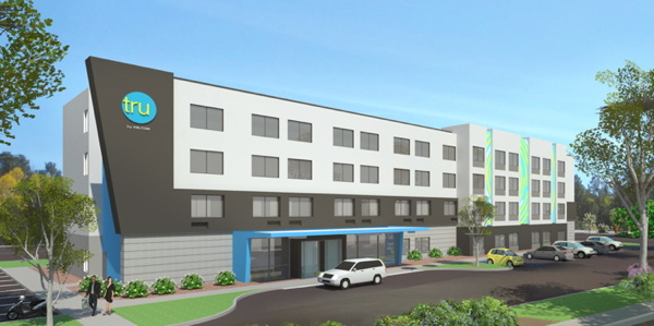 Rendering of Tru by Hilton Prototype Hotel