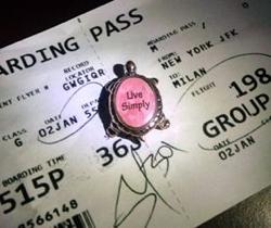 A boarding pass