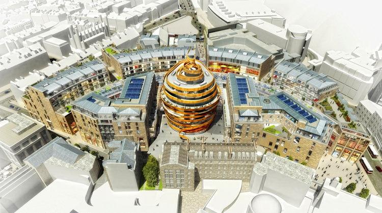 A rendering of the W Edinburgh Hotel
