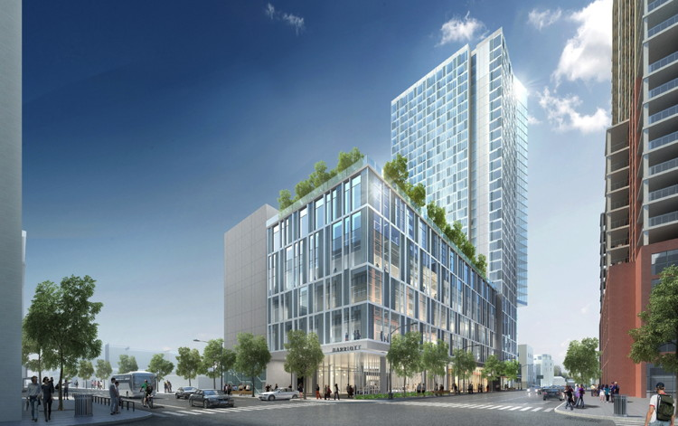 Rendering of the Marriott hotel in downtown Austin