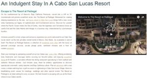 San Lucas Resort Goofgle screenshot