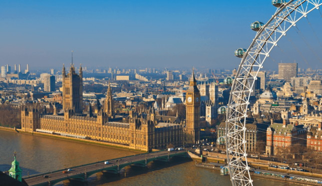 House of Parliamnet in London - aerial view - source trivago.co.uk