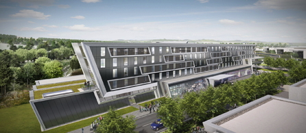 Rendering of the Hilton Aberdeen Exhibition & Conference Centre Hotel