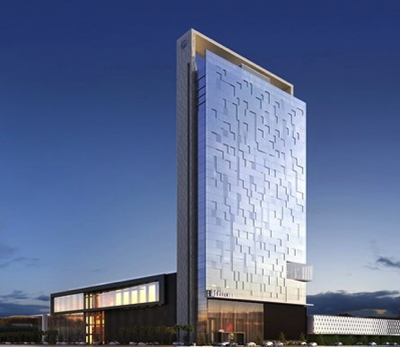 Rendering of the Hilton Santiago Las Condes Hotel