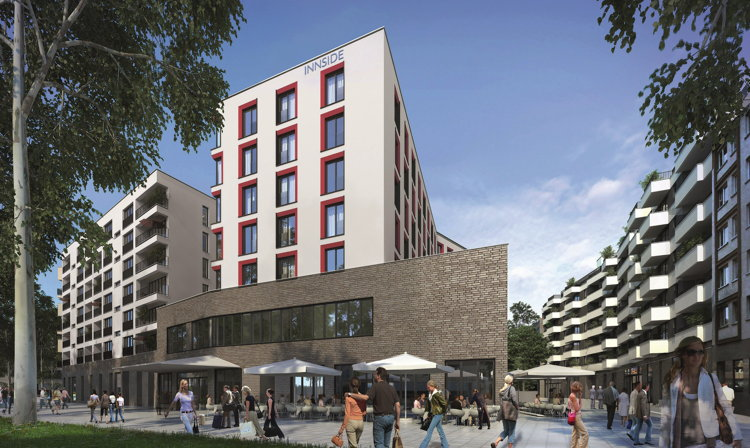 Rendering of the Innside by Meliá Frankfurt Ostend Hotel