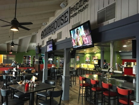 A newly remodeled Round Table Pizza Clubhouse location