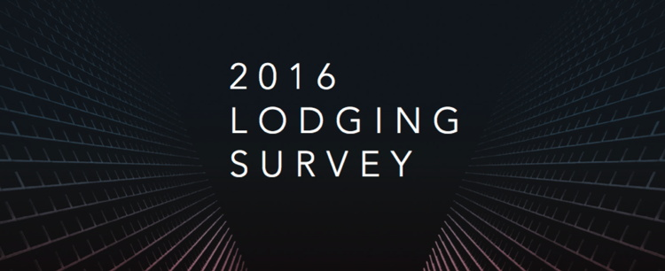 Buildings with the words - 2016 Lodging Survey
