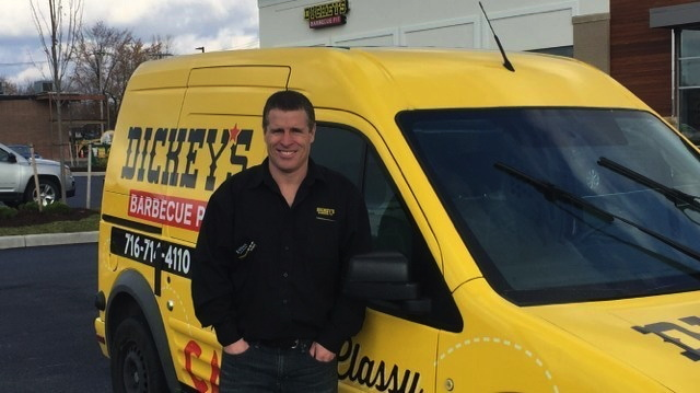 A Dickey's Barbecue Pit van