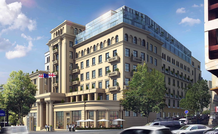 Rendering of the Hilton Tbilisi Hotel