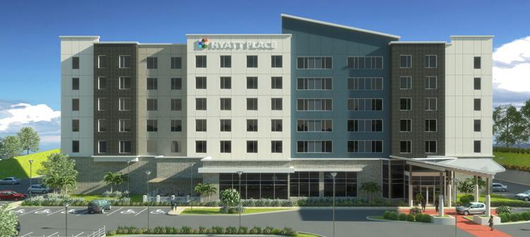 Rendering of the Hyatt Place Managua Hotel in Nicaragua