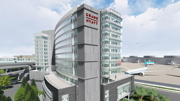 Rendering of the Grand Hyatt at SFO