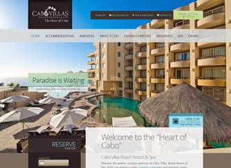 Cabo Villas Beach Resort & Spa website screenshot