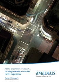 Cover page for Amadeus study - At the Big Data Crossroads: turning towards a smarter travel experience