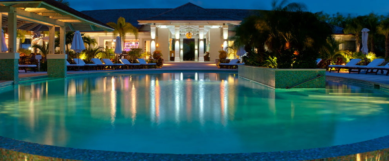 Pool at Night - West Bay Club in Turks and Caicos - Source West Bay Club Turks and Caicos