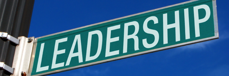 A street sign with the word Leadership on it.
