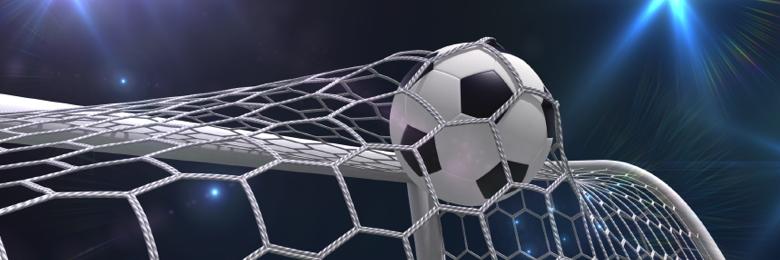 Soccer ball hitting the net