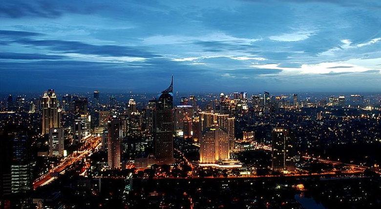 Jakarta at night - From Wikimedia Commons Winry Armawan
