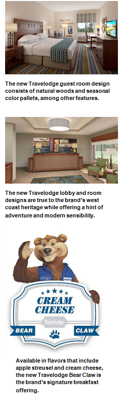Travelodge Hotel Brand Launches New Designs, Signature Bear Claw
